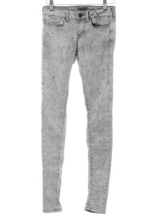 Guess Vaquero skinny gris claro-negro estampado con diseño abstracto