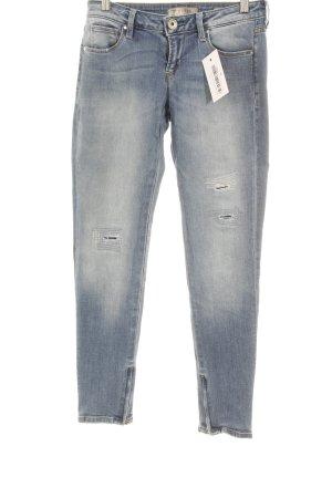 Guess Skinny Jeans himmelblau-blassblau Destroy-Optik