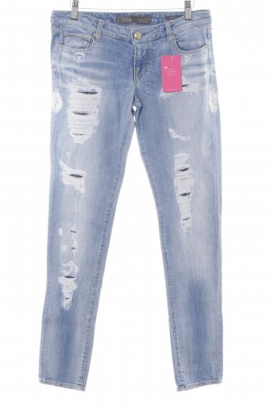 Guess Skinny Jeans himmelblau-weiß Destroy-Optik