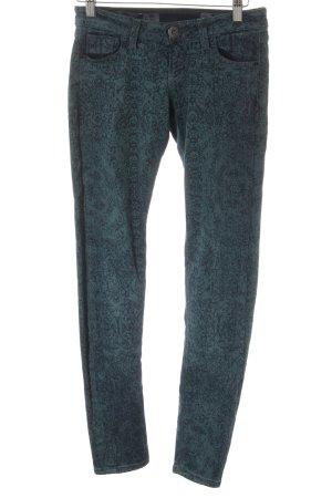 Guess Skinny Jeans petrol Ornamentenmuster Casual-Look