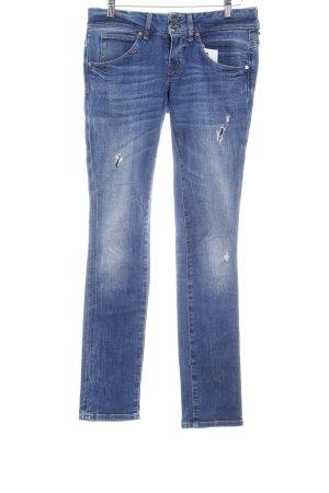 Guess Skinny Jeans stahlblau Destroy-Optik