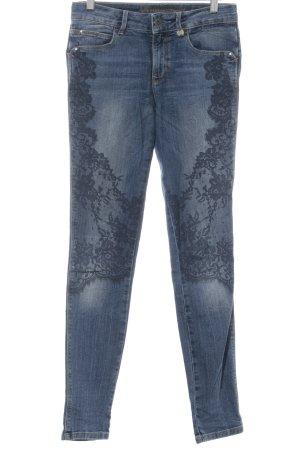 Guess Skinny Jeans stahlblau-dunkelblau florales Muster Casual-Look