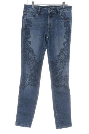 Guess Skinny Jeans stahlblau Motivdruck Casual-Look