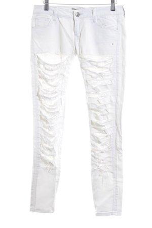 Guess Vaquero skinny blanco estilo extravagante