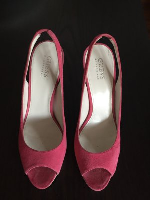 Guess Peep Toe Pumps natural white-neon pink