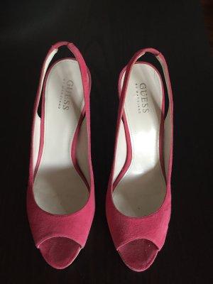 Guess Peep Toe Pumps natural white-neon pink