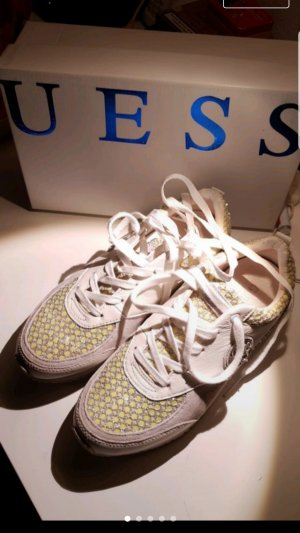 Guess Zapatillas blanco-color oro