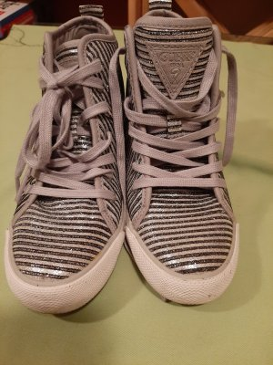 Guess High Top Sneaker silver-colored