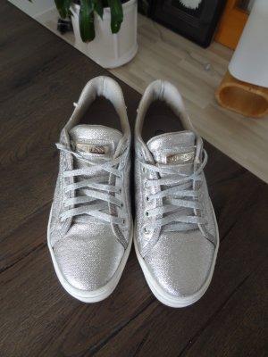 Guess Zapatillas color plata Material sintético