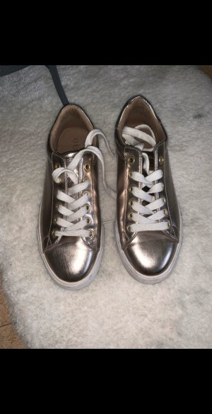 Guess Lace-Up Sneaker white-gold-colored