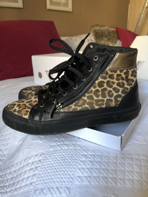Guess Lace-Up Sneaker black-gold-colored