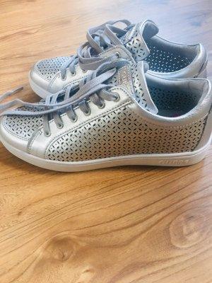 Guess Zapatillas altas color plata-blanco