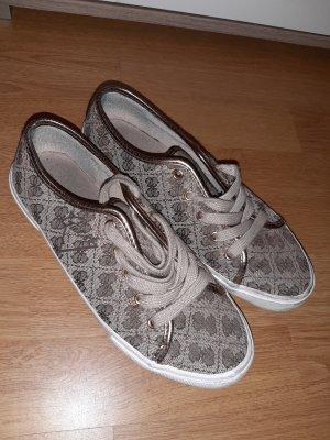 Guess Sneakers met veters brons-beige