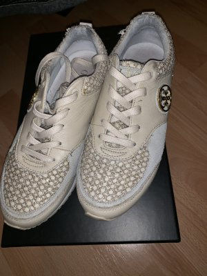 Guess Lace-Up Sneaker cream-gold-colored