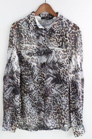 Guess Blusa de seda marrón oscuro-marrón