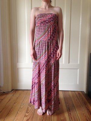 Guess Vestido bandeau multicolor fibra textil