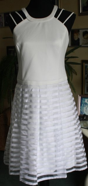 Guess Halter Dress natural white mixture fibre