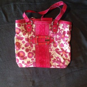 Guess Carry Bag magenta-beige linen
