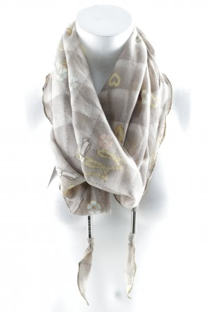 Guess Summer Scarf grey brown check pattern casual look