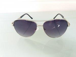 Guess Oval Sunglasses black-silver-colored