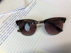 Guess Sonnenbrille im Clubmaster Look