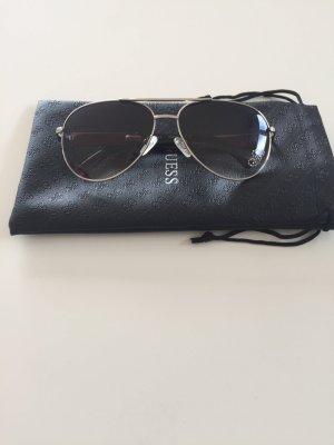 Guess Pilotenbril zwart-zilver