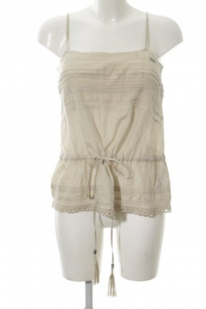 Guess Spaghetti Strap Top natural white casual look