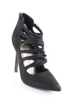 Guess Zapatos de punta negro elegante