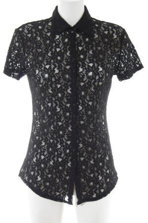 Guess Blusa in merletto nero stile casual