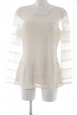 Guess Spitzenbluse creme Casual-Look