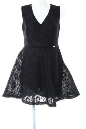 Guess Spitzenkleid schwarz Blumenmuster Elegant
