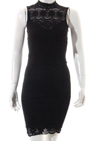 Guess Vestido de encaje negro elegante