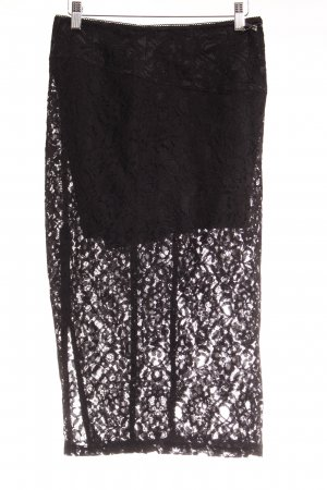 Guess Lace Skirt black flower pattern elegant