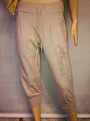 Guess Pantalone da ginnastica color carne-argento Tessuto misto