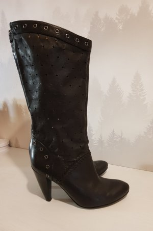 Guess Wide Calf Boots black leather