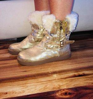Guess Korte laarzen goud Gemengd weefsel