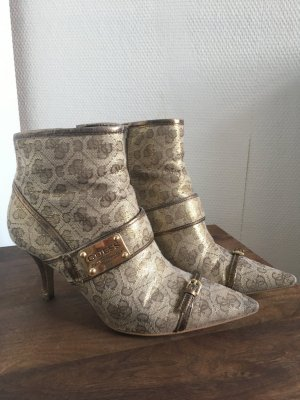 Guess Booties gold-colored