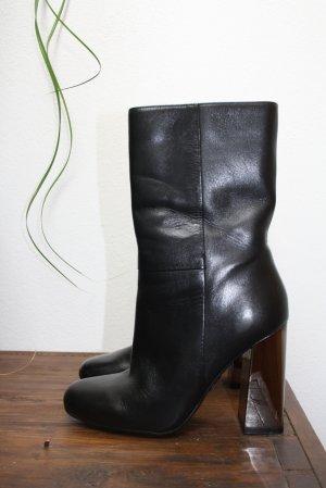 Guess Botas con cremallera negro Cuero