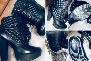 Guess Bottines à lacets noir cuir