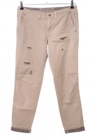 Guess Stoffhose creme-bronzefarben Party-Look