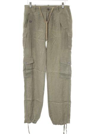Guess Pantalone jersey grigio-verde stile casual