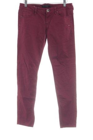 Guess Pantalone jersey carminio stile casual