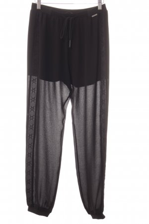Guess Pantalón tipo suéter negro look casual