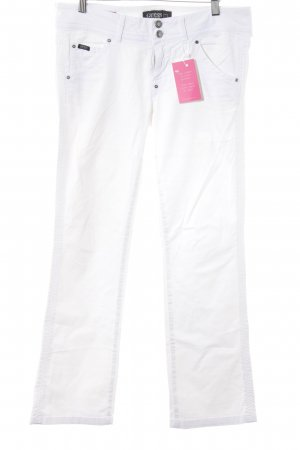 Guess Jersey Pants white street-fashion look