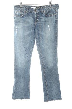 Guess Straight-Leg Jeans blau Destroy-Optik