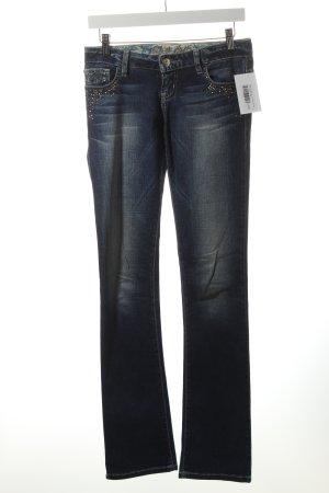 Guess Straight-Leg Jeans blau-wollweiß Street-Fashion-Look