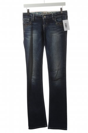 Guess Straight-Leg Jeans blau-wollweiß Street-Fashion-Look