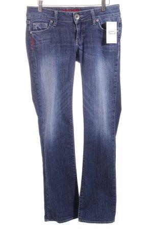 Guess Straight-Leg Jeans dunkelblau-weiß Casual-Look