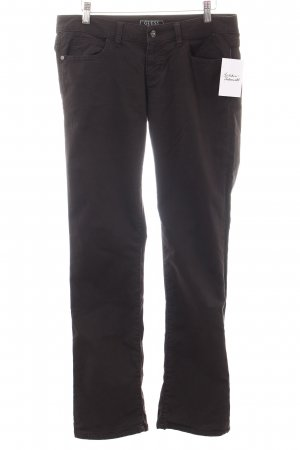 Guess Straight-Leg Jeans dunkelbraun Casual-Look