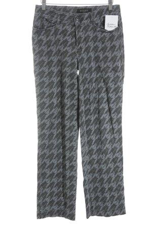 Guess Straight-Leg Jeans schwarz-grauviolett Pepitamuster extravaganter Stil
